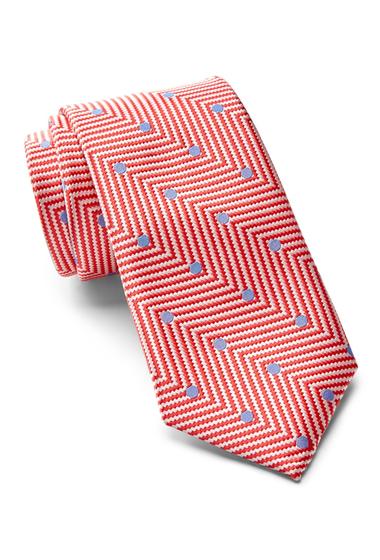 Accesorii Barbati Ted Baker London Chevron Dot Silk Tie CORAL