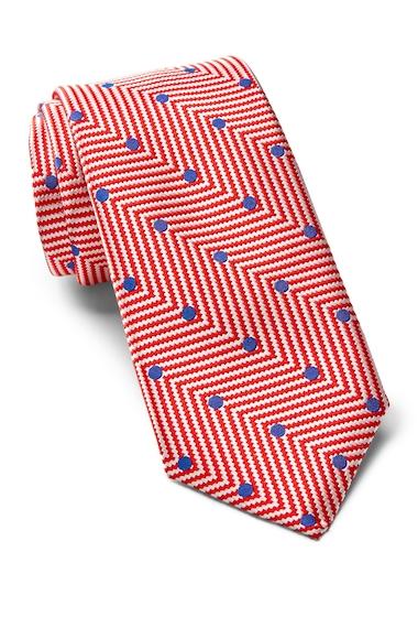 Accesorii Barbati Ted Baker London Chevron Dot Silk Tie RED