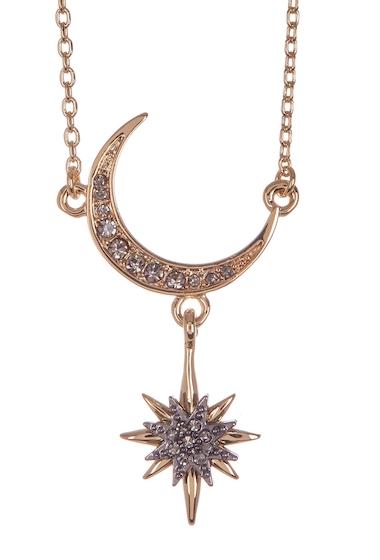 Bijuterii Femei Vince Camuto Crescent Star Pendant Necklace YELLOW 01