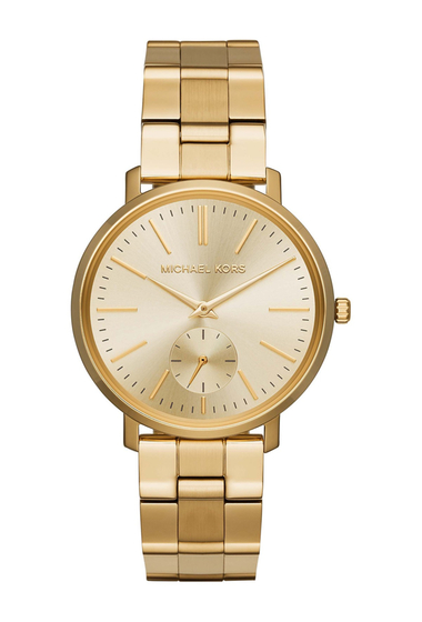 Ceasuri Femei MICHAEL Michael Kors Womens Jaryn Gold-Tone Stainless Steel Watch 38mm GOLD