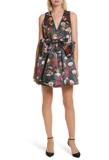 Imbracaminte Femei Alice Olivia Daralee Bow Front Party Dress VIVID FLRL
