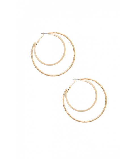 Bijuterii Femei Forever21 Layered Hoop Earrings GOLD