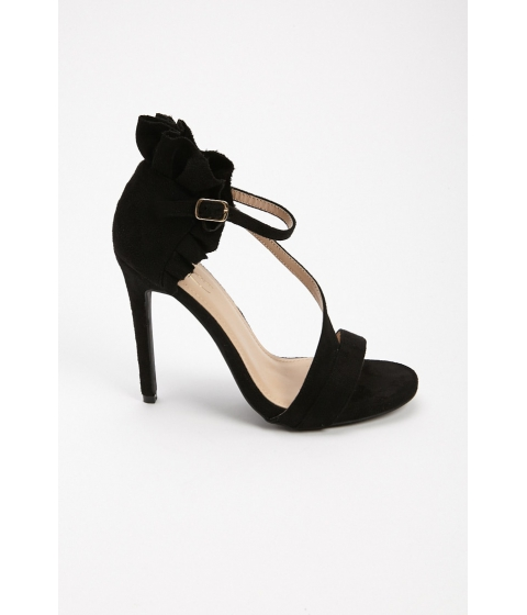 Incaltaminte Femei Forever21 Ruffled Faux Suede Sandals BLACK