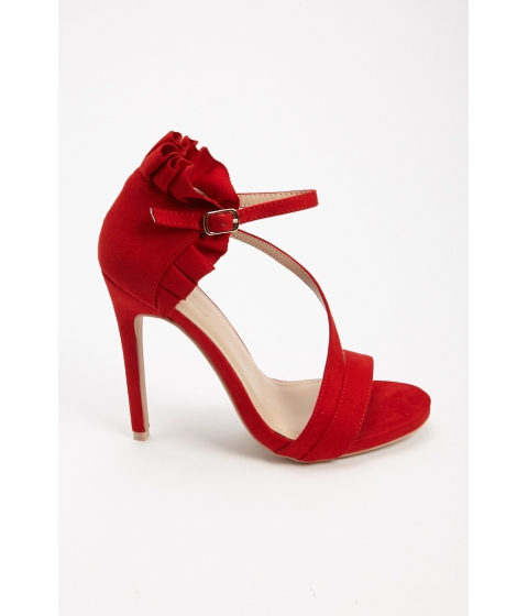 Incaltaminte Femei Forever21 Ruffled Faux Suede Sandals RED
