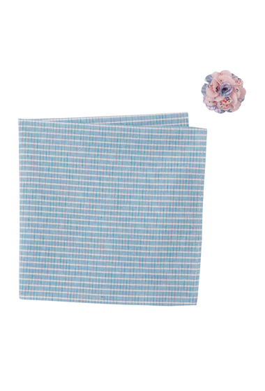 Accesorii Barbati Original Penguin Morea Stripe Pocket Square Lapel Pin Set BLUE