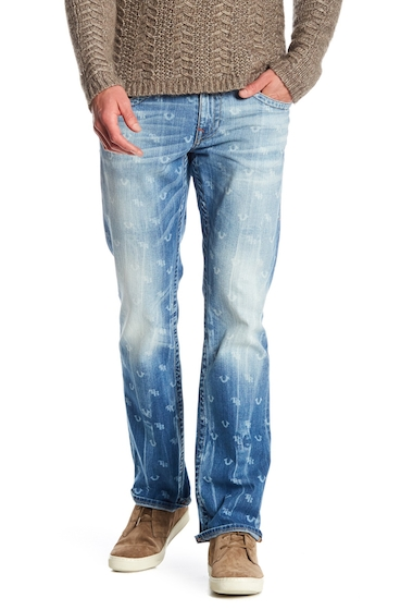 Imbracaminte Barbati True Religion Straight Leg Monogram Jeans ESWM STONE CLAW