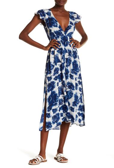 Imbracaminte Femei Billabong Dont Mess Floral Print Lace-Up Back Dress WCP-WHITE CAP