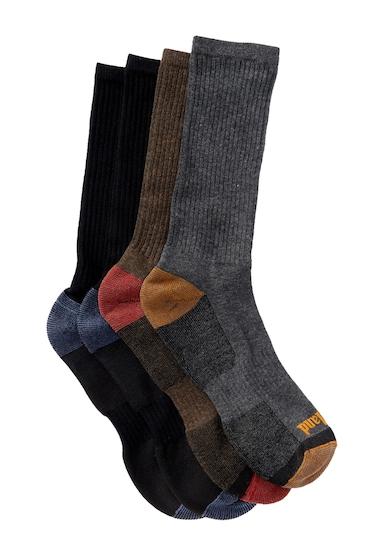 Accesorii Barbati Timberland Outdoor Leisure Comfort Crew Socks - Pack of 4 ASSTMULTI