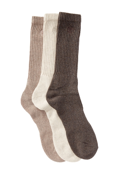 Accesorii Barbati Timberland Casual Outdoor Leisure Crew Socks - Pack of 3 MULTI