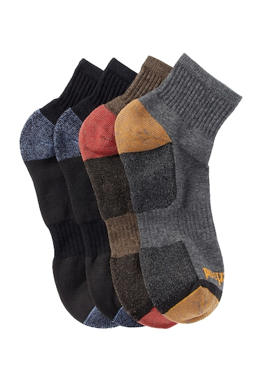 Accesorii Barbati Timberland Outdoor Leisure Low Quarter Socks - Pack of 4 ASSTMULTI