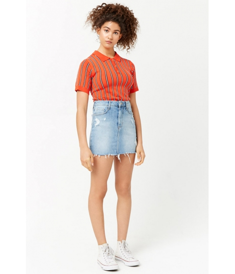 Imbracaminte Femei Forever21 Distressed Denim Skirt DENIM