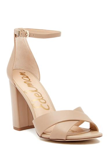 Incaltaminte Femei Sam Edelman Yancy Crisscross Ankle Strap Sandal NUDE