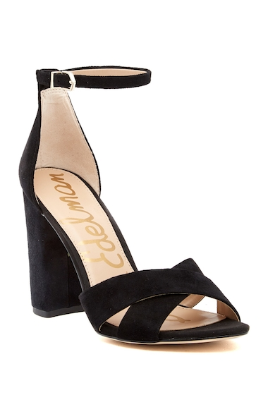 Incaltaminte Femei Sam Edelman Yancy Crisscross Ankle Strap Sandal BLACK