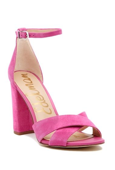 Incaltaminte Femei Sam Edelman Yancy Crisscross Ankle Strap Sandal HOT PINK