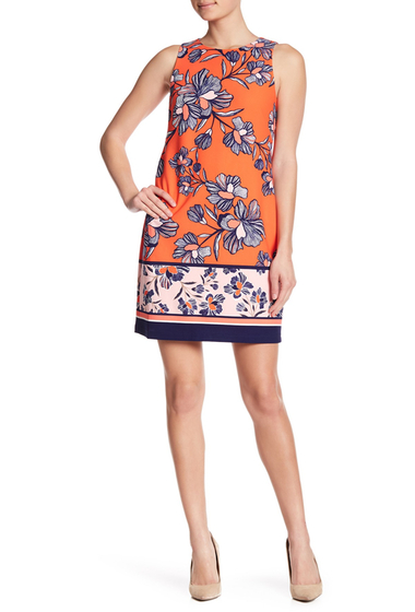 Imbracaminte Femei Vince Camuto Floral Keyhole Cutout Shift Dress ORANGE