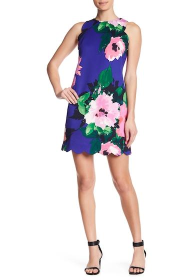 Imbracaminte Femei Vince Camuto Scalloped Floral Shift Dress COBALT