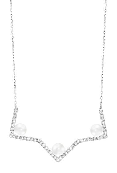 Bijuterii Femei Swarovski Edify Crystal Pearl Pave Crystal Geometric Pendant Necklace NO COLOR