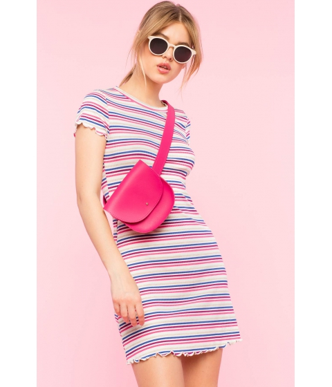Imbracaminte Femei CheapChic Stripe Left Tee Dress Blue Pattern
