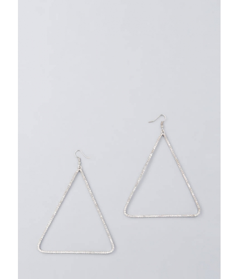 Bijuterii Femei CheapChic Count To Three Jeweled Triangle Earrings Silver
