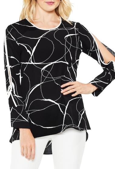 Imbracaminte Femei Vince Camuto Ink Split Sleeve Blouse RICH BLACK