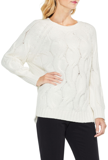 Imbracaminte Femei Vince Camuto Long Sleeve Chunky Cable Sweater ANTIQ WHIT