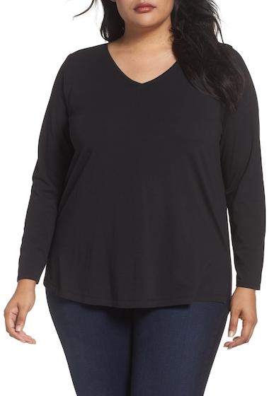 Imbracaminte Femei Sejour V-Neck Tee Plus Size BLACK