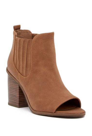 Incaltaminte Femei BC Footwear Breezy Open Toe Bootie COGNAC