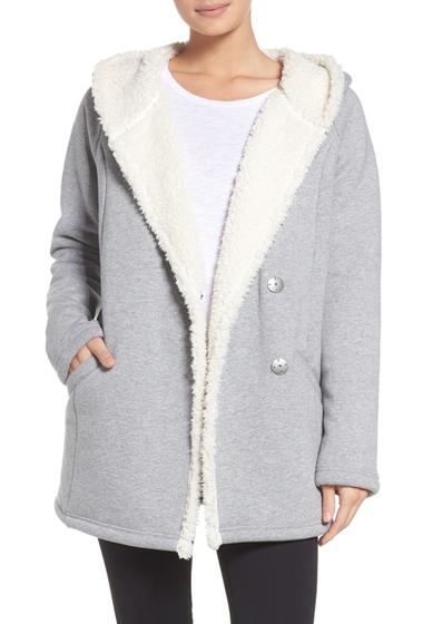 Imbracaminte Femei Zella Chalet Fleece Lined Hooded Wrap GREY HEATHER