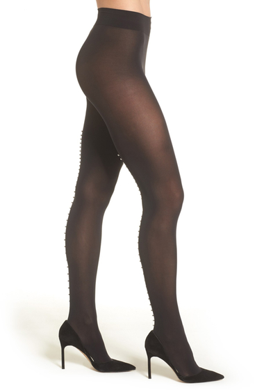 Accesorii Femei WOLFORD Pearlescent Beaded Tights BLACKPEARL