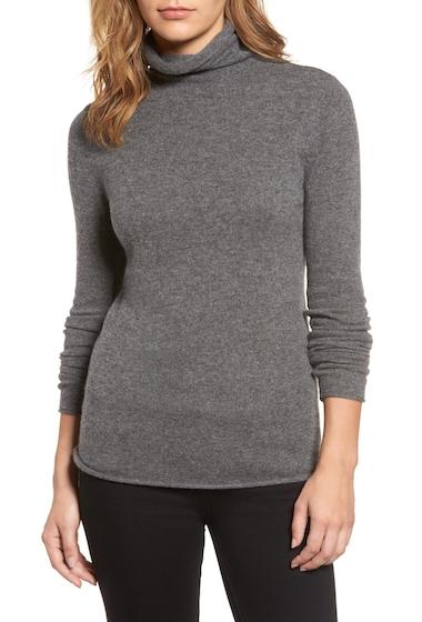Imbracaminte Femei Halogen Funnel Neck Cashmere Sweater GREY DARK HEATHER