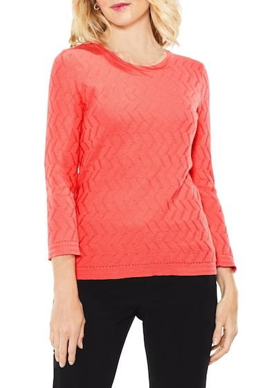 Imbracaminte Femei Vince Camuto Textured Stitch Sweater MELON