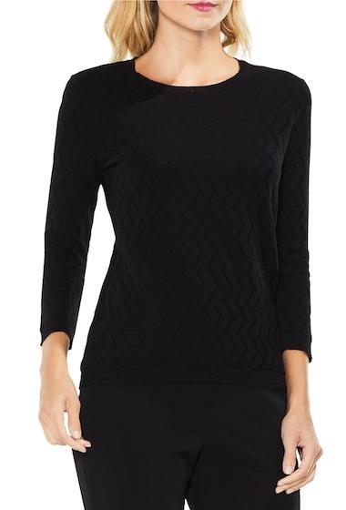 Imbracaminte Femei Vince Camuto Textured Stitch Sweater RICH BLACK