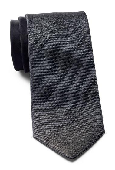 Accesorii Barbati Calvin Klein Fade Out Plaid Silk Tie BLACK