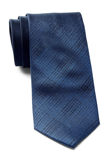 Accesorii Barbati Calvin Klein Fade Out Plaid Silk Tie NAVY