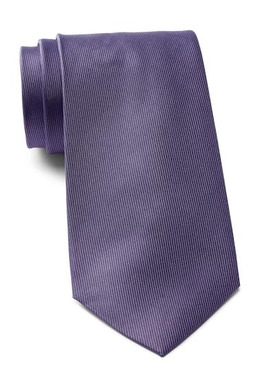 Accesorii Barbati Calvin Klein Vertical Twill Solid Silk Tie PURPLE