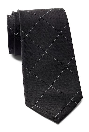 Accesorii Barbati Calvin Klein Classic Windowpane Silk Tie BLACK