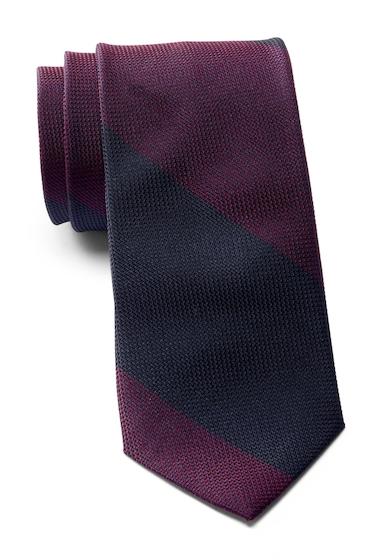 Accesorii Barbati Calvin Klein Colorblock Stripe Silk Tie BURGUNDY