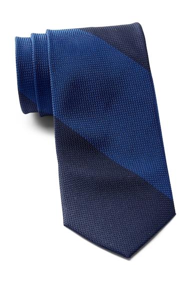 Accesorii Barbati Calvin Klein Colorblock Stripe Silk Tie NAVY