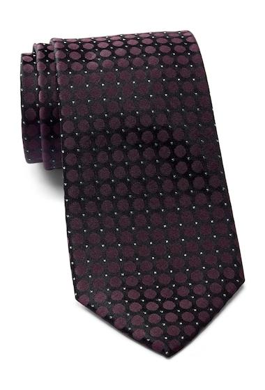 Accesorii Barbati Calvin Klein Glitter Dot Tie BURGUNDY