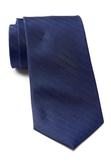 Accesorii Barbati Calvin Klein Raised Classic Stripe Silk Tie NAVY