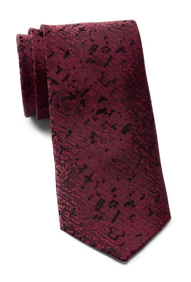 Accesorii Barbati Calvin Klein Watercolor Solid Silk Tie BURGUNDY