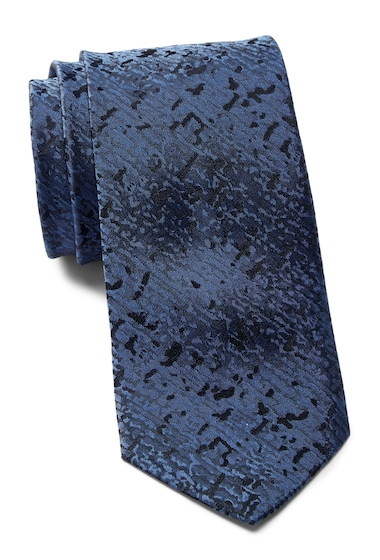 Accesorii Barbati Calvin Klein Watercolor Solid Silk Tie NAVY