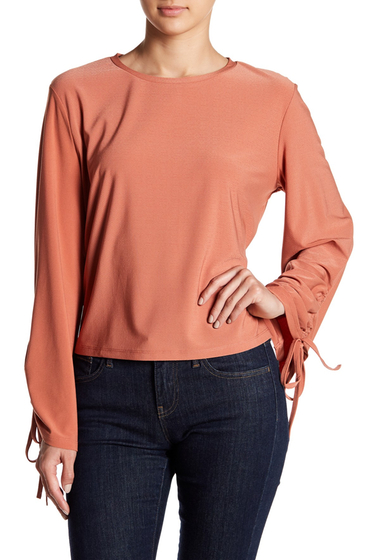 Imbracaminte Femei Free Press Tied Bell Sleeve Blouse CORAL CEDAR