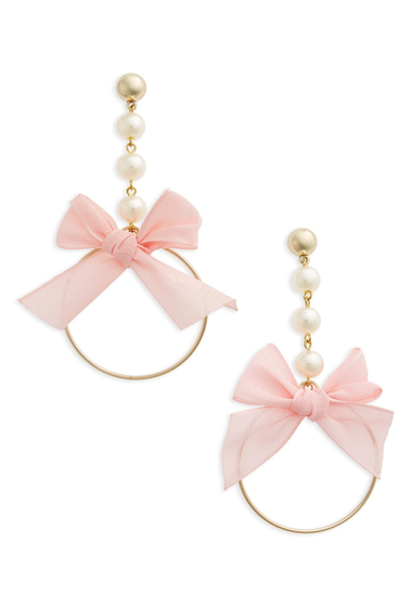 Bijuterii Femei Cara Accessories Bow Drop Earrings GOLD