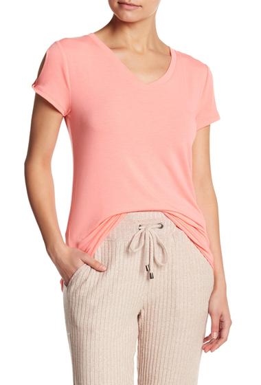 Imbracaminte Femei Splendid Core Twist Sleeve Tee BRIGHT SALMON