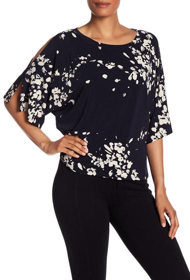 Imbracaminte Femei Rachel Rachel Roy Floral Cold Shoulder Blouse TRUE NAVY COMBO