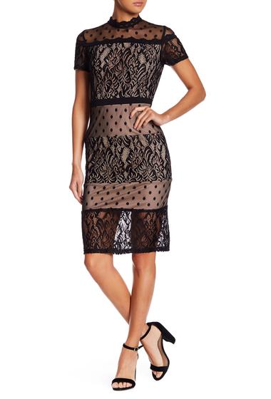Imbracaminte Femei Tea Cup Bodycon Lace Dress BLACK