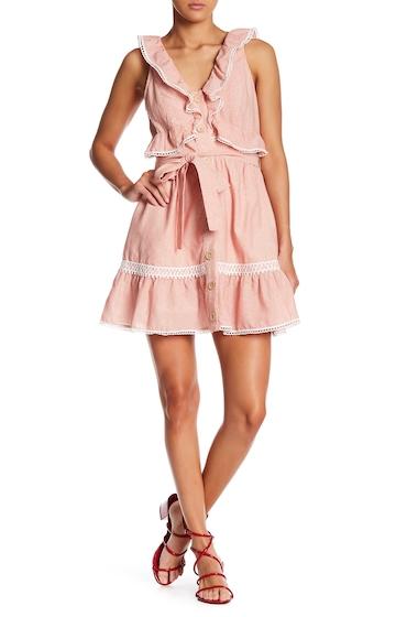 Imbracaminte Femei Tea Cup Ruffle Pinstripe Dress PINK