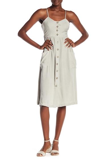 Imbracaminte Femei GOOD LUCK GEM Button Front Midi Dress DUSTY SAGE