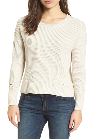Imbracaminte Femei Lucky Brand Lace-Up Back Sweater NATURAL